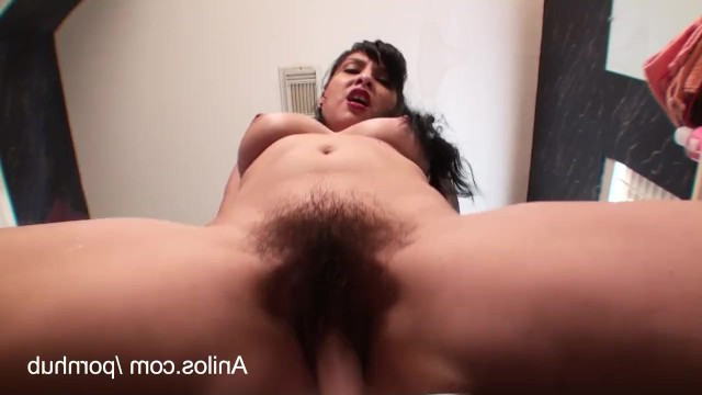 Bad sex with a man makes the sexy lady masturbate her hairy pussy