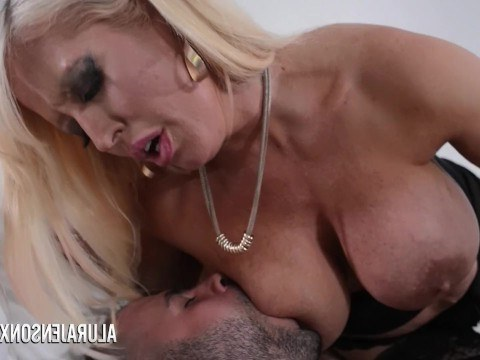 Bald man wearing a uniform really turned on the milf Alura Jenson who got fucked in the pussy