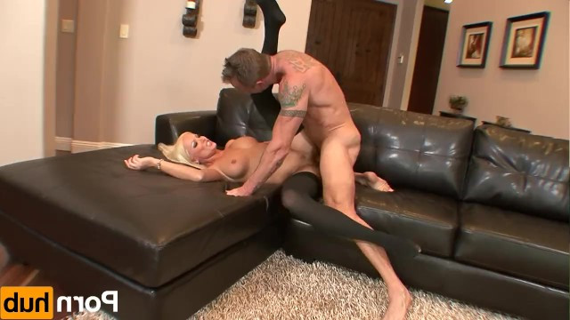 Beautiful mature blonde betrays her husband and seduces cheeky neighbor for sex