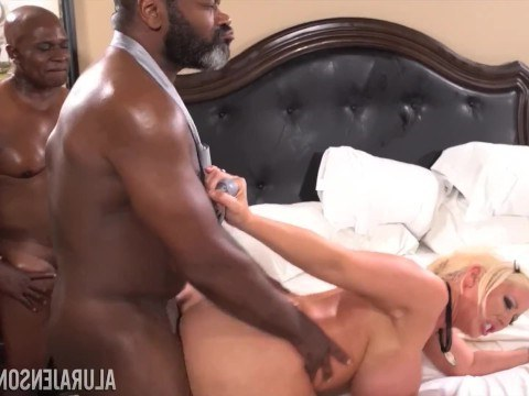 Black woman introduced her mature girlfriend to all her brothers and watched them fucking