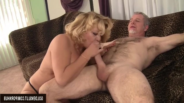 Blonde milf had a passionate sex with gray haired lover