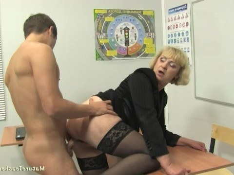 Boy fucked mature naughty teacher instead of her publicity shame