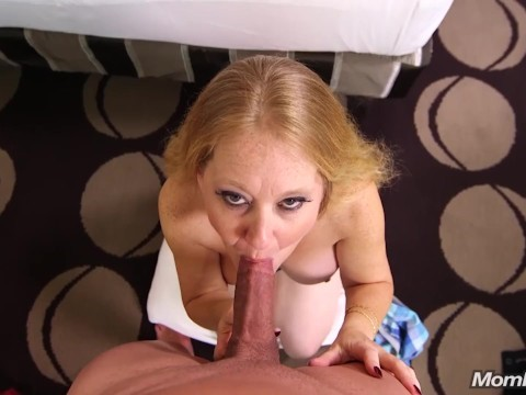 Busty blonde granny is becoming an actress, fucking with guy on casting