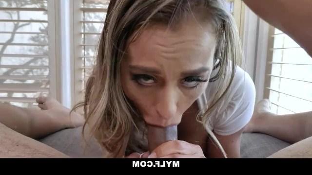 Busty milf enjoys blowjob and fucking between juicy boobs