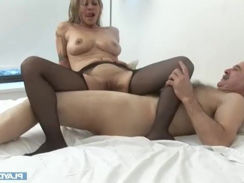 Chubby blonde milf gave the guy a fantastic night of sex for a new car