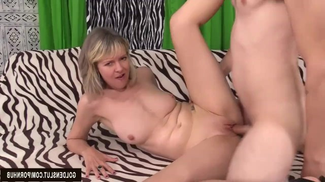 Cute blonde milf shows her impudence in hot sex with partner