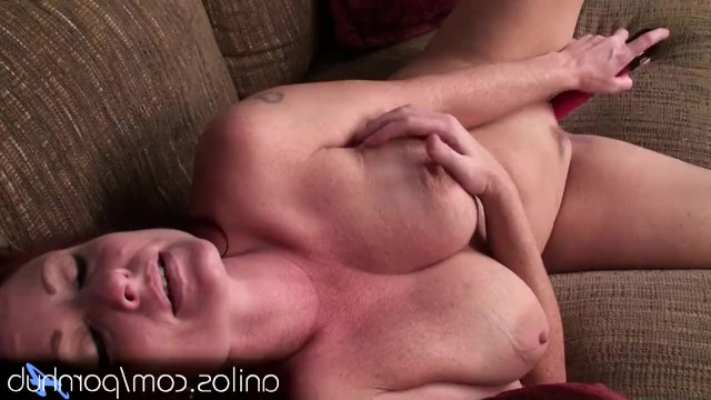 Dildo masturbation turned out to be a great relaxation method for a mature milf