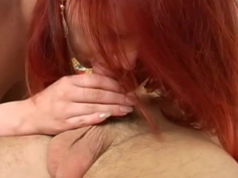 Frisky mature redhead mom undressed his son and demanded a stormy sex