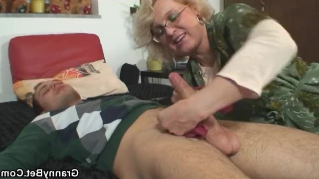 Grandson missed grandmother and came to her house to fuck hard in granny cunt