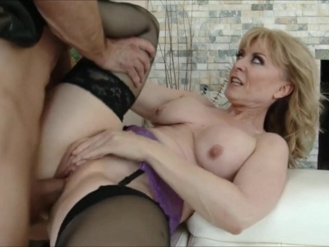 Guy met horny mature mom of his girlfriend and fucked her in the pussy