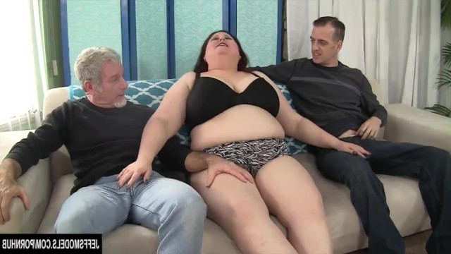 Guys stripped a mature bbw and double penetrated her anal and pussy