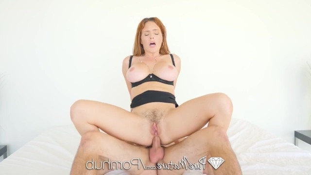 Hardcore anal sex causes ass of hot redhead milf Krissie Lynn a very sweet pain