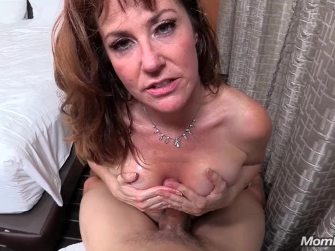 Horny guy fucked the redhead busty milf and enriched sexual experience
