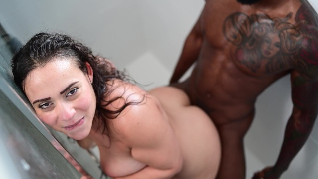 Hot brunette arranged crazy races on the black man's dick