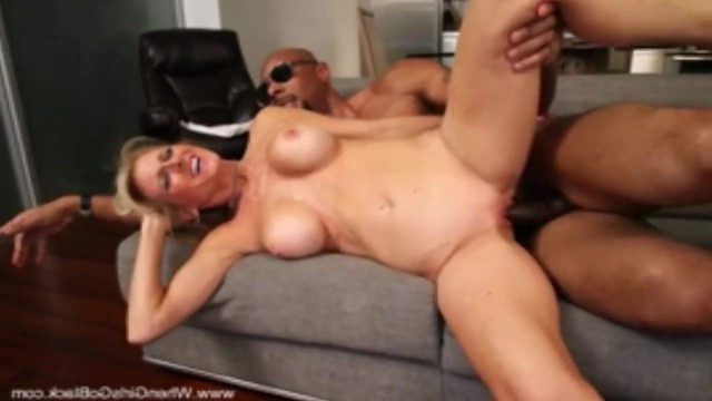 Hot busty blonde betrays her spouse cheatting with muscular black man