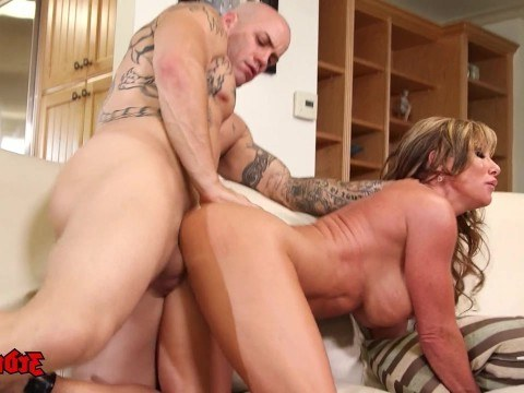 Hot busty milf brought a jock home and cheated on her spouse with him