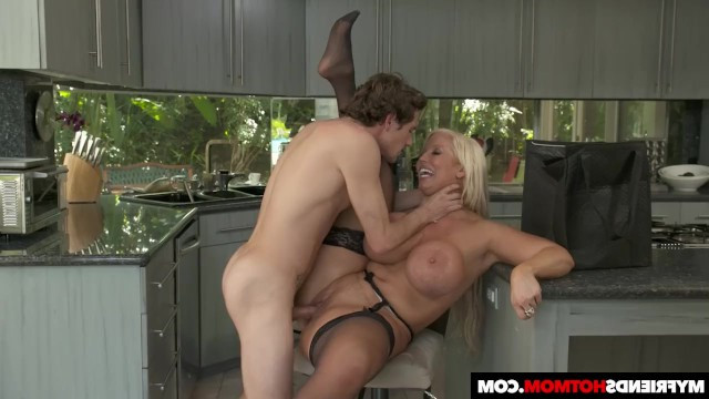Hot mature mom turned her sons best friend into a lover and had a great fuck
