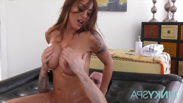 Kaylani Lei gave a massage to her partner and passionately fucked him