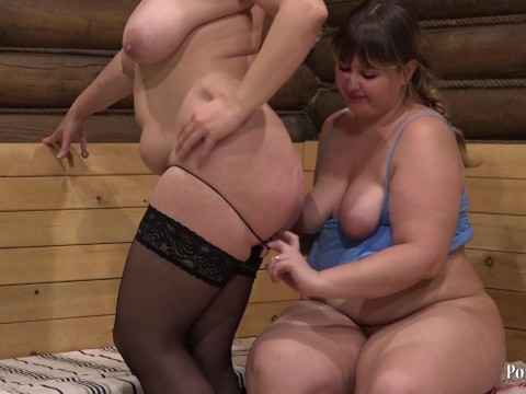 Lesbian milf can satisfy the fatty only with toys