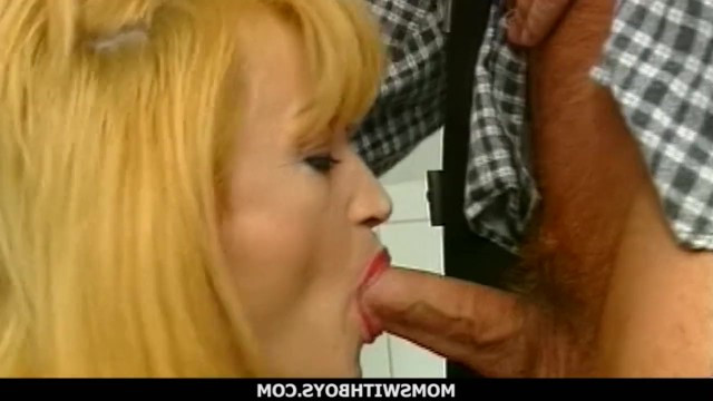 Man caught lady by surprise and fucked her mature blonde pussy right in the toilet