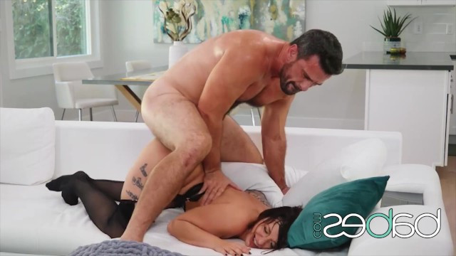 Man fucks tattooed MILF in pussy with all his might and cums with pleasure