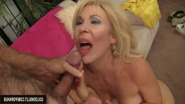 Man furiously fucked dirty mature Erica Lauren in pussy and cum on her face