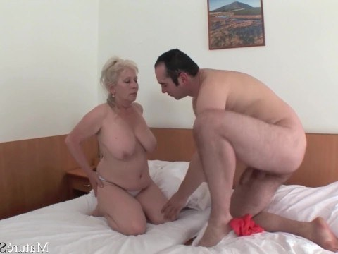 Man loves older ladies and passionately fucks chubby granny