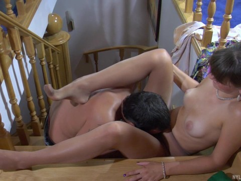 Massage for horny russian milf ended by sex with fetishist
