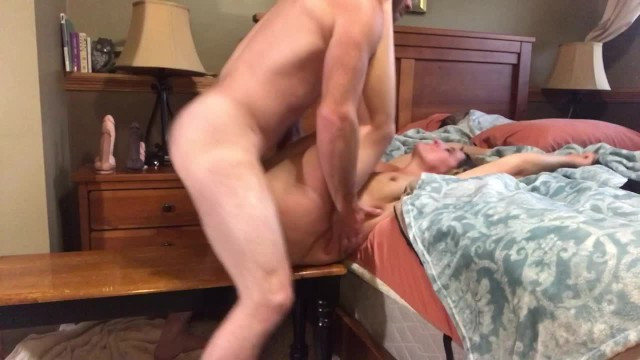 Mature and horny couple took a video of their hardcore sex and conception