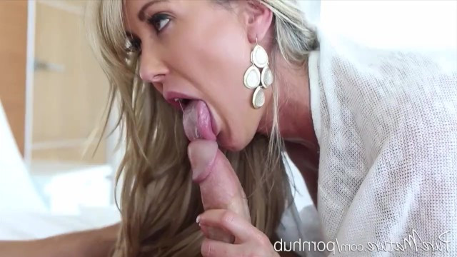 Mature babe Brandie Love did the coolest blowjob and fucked guy