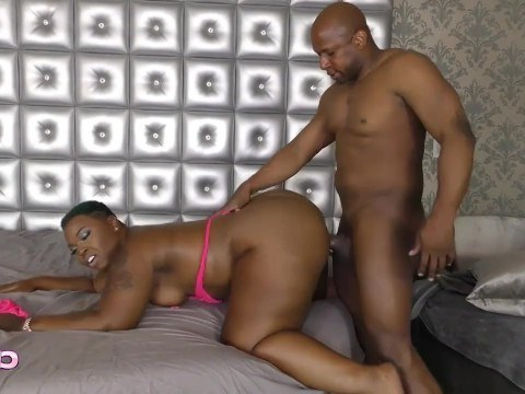 Mature black woman with huge ass inspired man to fuck her