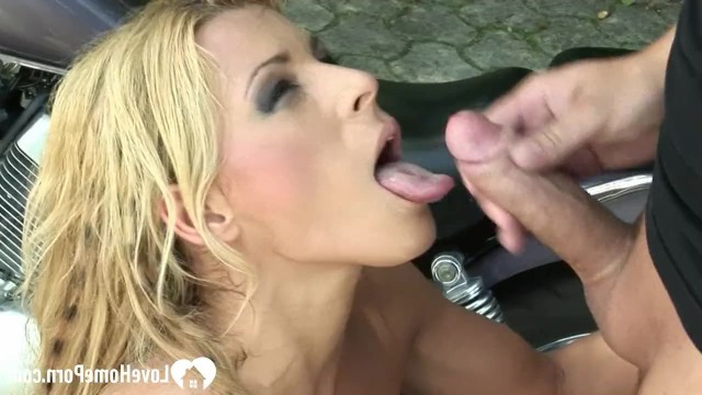 Mature blonde liked the biker so much that she let him fuck her right in the middle of the street