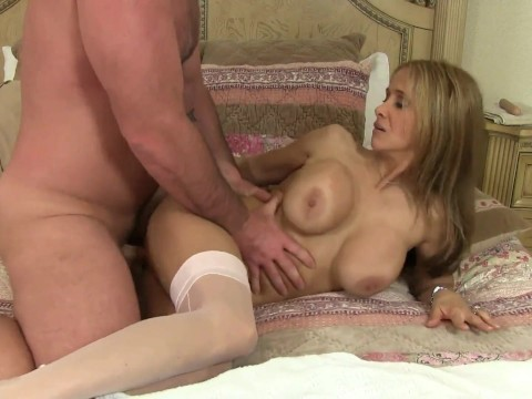 Mature blonde pornstar Hot Wife Rio masturbatedher pussy and immediately let in friend's dick