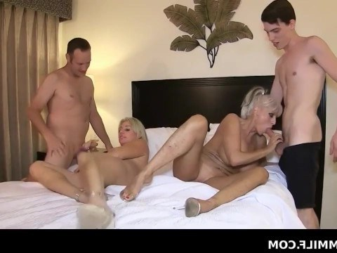 Mature blondes had a great time during group sex with the men