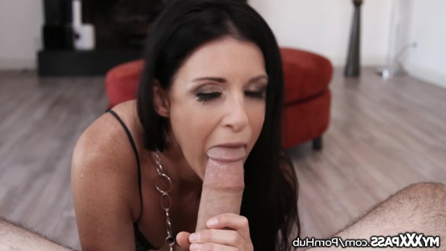 Mature brunette India Summer shared her experience in blowjob and deeply sucked partner's dick