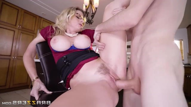 Mature mom Cory Chase wanted to see her son masturbating and fucked with him