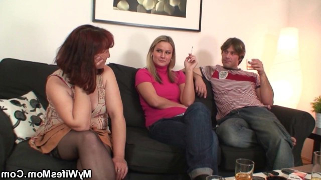 Mature mother-in-law was fucked by her son-in-law and daughter