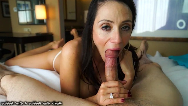 Mature wife spoils her beloved husband with excellent blowjob