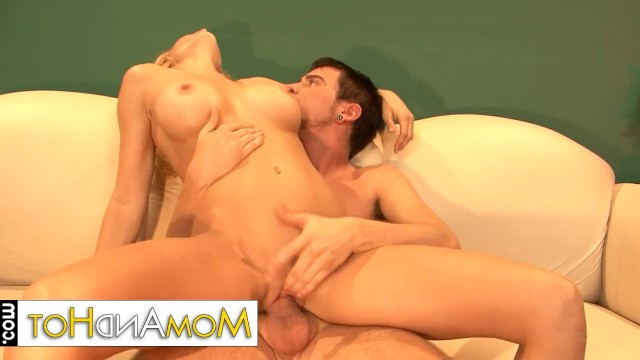 Mature woman Holly Sampson can not live without sex and fucks with son's friend