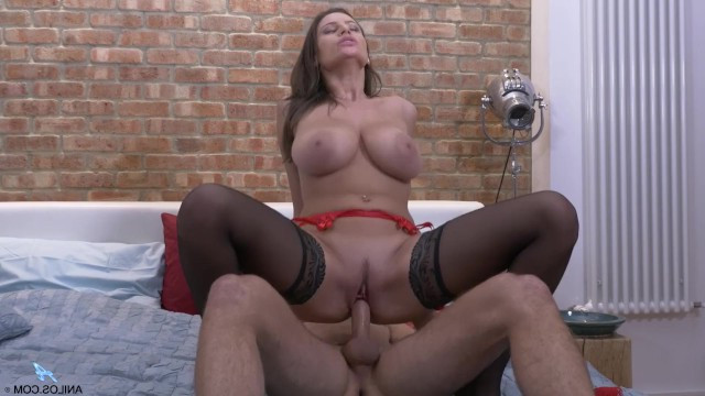 Milf actress Sensual Jane was passionate in bed and got cum on tits