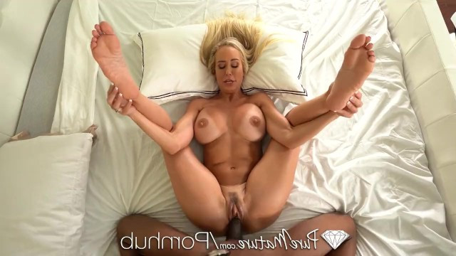 Milf expanded her pussy with a toy to fit a big black dick and get fucked