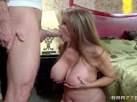 Naked blonde milf Darla Crane with big boobs satisfies partner's passion in bed
