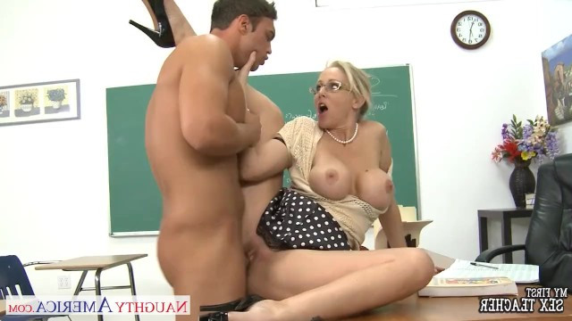 A guy bothered a mature busty teacher Julia Ann and she set him off after sex