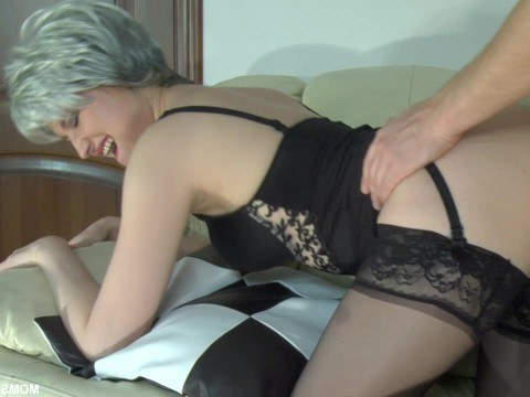 Russian milf gets fucked in anal and makes prolonged moans