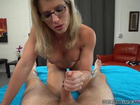 Sexy stepmom teaches son character, arranging incest with him