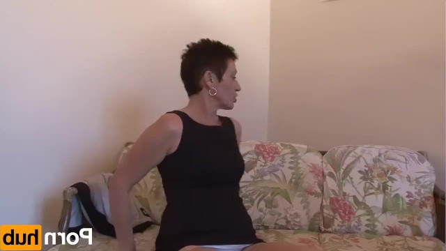 Shaved granny tries on the casting guy ass' taste and fucks with him