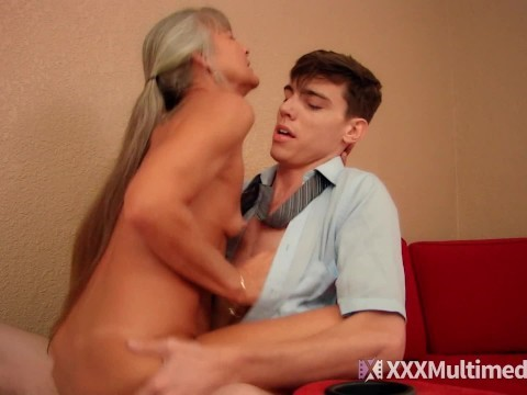 Skinny mother shoved her son-in-law her love making forbidden fuck