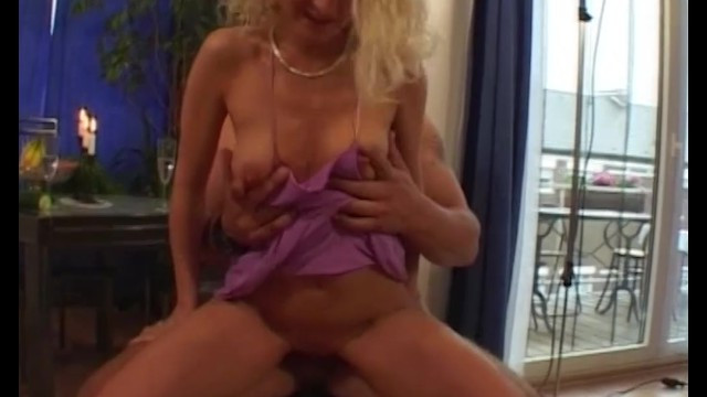 Small blonde milf swapped fucking by cucumber on fucking by dick