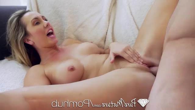 Son got good grades and deserved kindred sex with his stepmother milf Brett Rossi