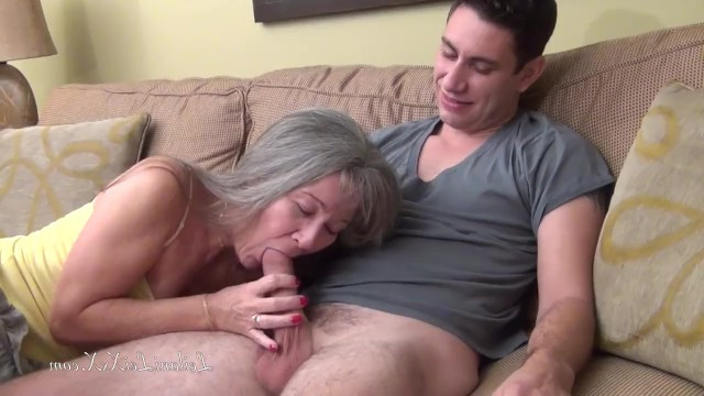 The age of a mature granny doesnt scare the guy and he fucks her sweet pussy
